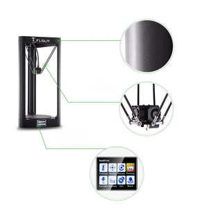 Image 4 - Flsun QQ S PRO 3Dプリンタ高速大型印刷サイズ255*360ミリメートルkosselデルタ3d Printerオートレベリングタッチ画面