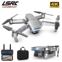 Lsrc 2021 novo e68pro mini drone 4k 1080p hd câmera wi fi fpv pressão de ar altura mantendo dobrável quadcopter rc brinquedo dron
