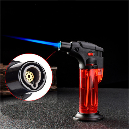Efillable Windproof Torch Jet Turbo Gas Lighter BBQ Ignition Inflatable Butane Spray Gun Cigar Cigarettes Lighters No Gas