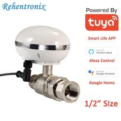 Голосовое управление Alexa Google Tuya, умный газовый водяной клапан с Wi-Fi, контроллер отключения, размер трубы 1/2 дюйма