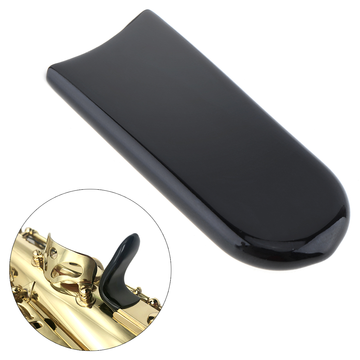Rubber Saxophone Black Thumb Rest Saver Cushion Pad Finger Protector Comfortable For Alto Tenor Soprano Saxophones
