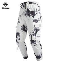 Mirecoo Harem Pants Men Military Camouflage Joggers Cargo Trousers Drawstring Harajuku Hip Hop Sweatpants Streetwear