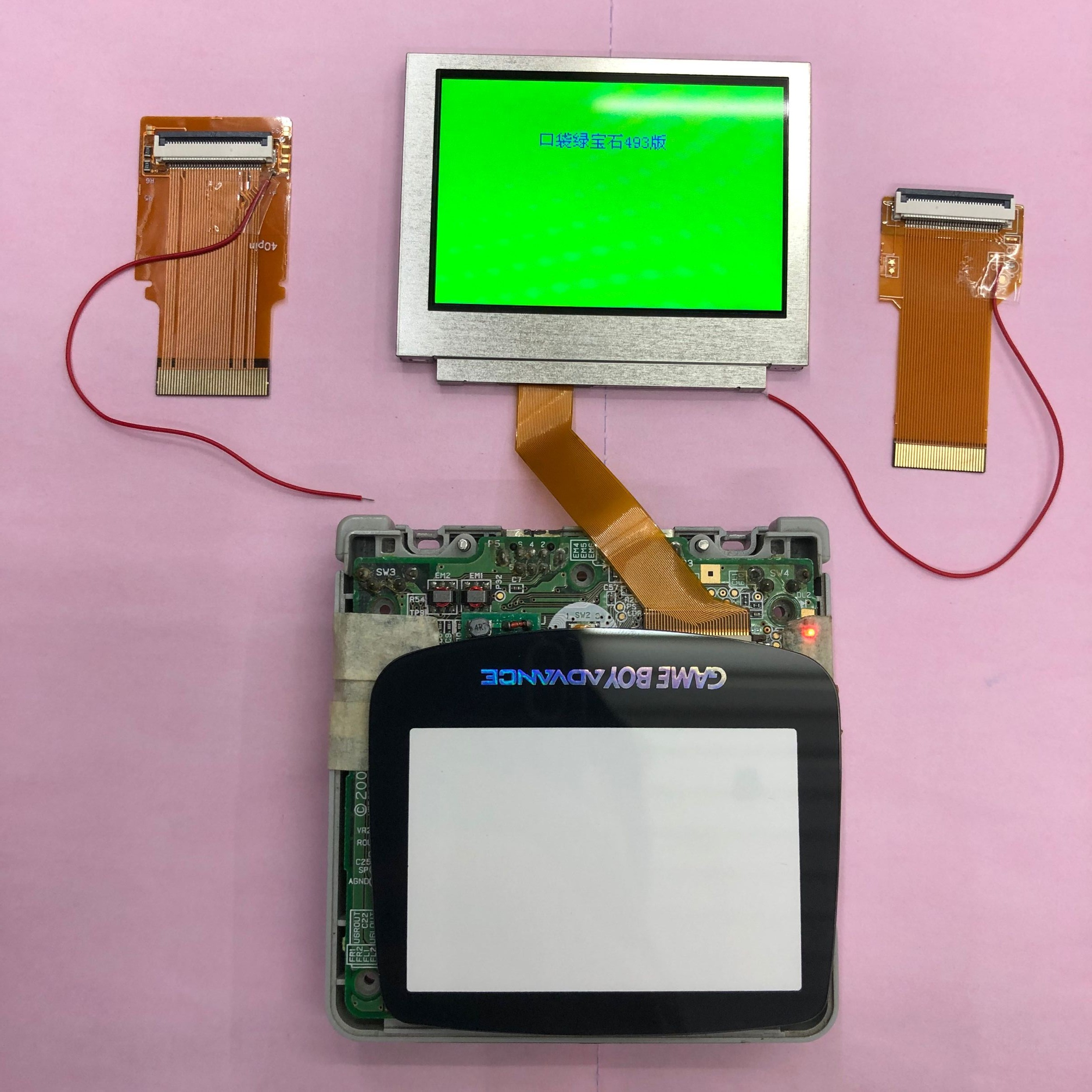 For Nintendo GameBoy Advance LCD Screen For GBA SP AGS 101 Highlit Screen LCD Backlit Brighter with 40pin/32pin cable and glass(China)
