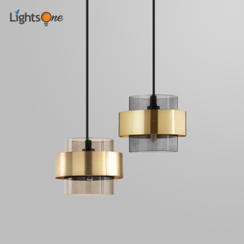 Simple light luxury small pendant lights bedroom bedside restaurant bar counter clothing store Nordic lamp