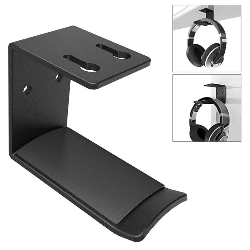 Aluminum Alloy Headphone Hanger Holder Wall Mount Headset Stand Desk Display Bracket Hanging Hook Earphone Rack 50x64mm
