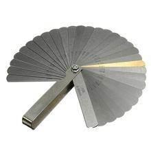 Щуп из нержавеющей стали, 32 лезвия, шкала 0,04-0,88 мм, толщина зазора, метрический Императорский наполнитель для манометра, прокладка клапана