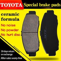 Dla Toyota VIOS (_ _ P92) 【2008 2013】 1.3L gl i AT 1.3L gl i MT przednie i tylne klocki hamulcowe w Okładziny i szczęki hamulcowe do samochodu od Samochody i motocykle na