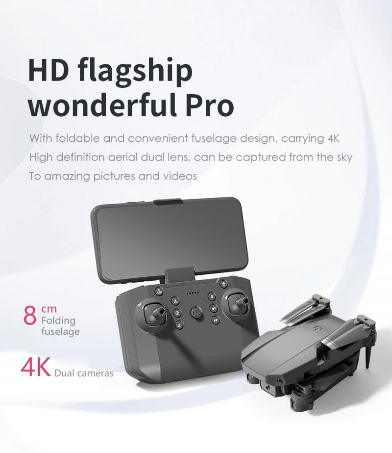 H05048702fa00408c860f49fb4d256d663 - L703 Folding Drone 4K HD Aerial Photography Cameras WIFI FPV Aerial Photography Helicopter Foldable Quadcopter Drone Toys