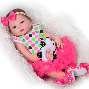 55cm Reborn Baby Dolls Silicone Full Body Vinyl 22 Inch Lifelike girl Baby Doll Toy For Toddler Realistia BJD Boneca Menina Gift