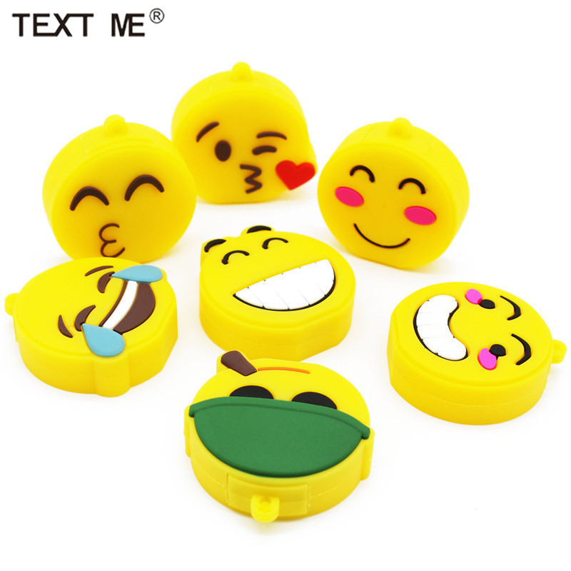 TEXT ME Cute Expression 64GB USB Stick 10 Model Smile USB Flash Drive Pen Drive 4GB 8GB 16GB 32GB Usb2.0 Memory Stic