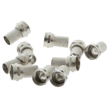 10 Pcs New Copper Twist On RG6 F Type Coaxial Cable Connector Plugs High Quality For TV Satellite Antenna Coax - discount item  27% OFF Electrical Equipment & Supplies