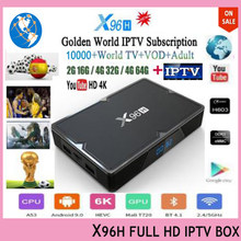 2019 Newest X96H smart tv box android 9.0+1 year Full HD IPTV 10000+ Arabic Germany Israel UK French Bulgaria Italy Spain Indian(China)