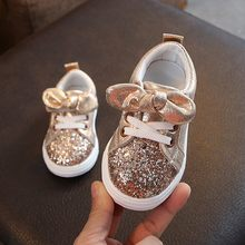 Bling paillettes nœud papillon cristal course Sport baskets chaussures enfants bébé filles garçons chaussures de Sport en plein air chaussure enfant fille
