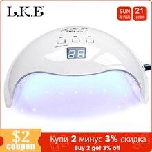 Lke 48W Nagel Droger Zon X9 Uv Lamp 3 Getimede Modus Met Automatische Sensing Nail Lamp Voor Nagels Drogen builder Gel Uv Nail Drogers