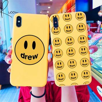 Justin Bieber drew house Phone Case for iPhone 8 7 6 6S Plus X SE 2020 XR 11 12 Pro mini pro XS MAX Candy yellow Silicone Cases image