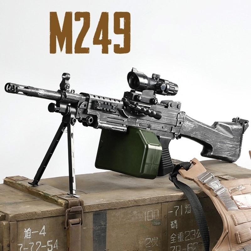 Drop Shopping M249 Water Gun For Kid Christmas Gifts Safe/Fun 2020 Children's Toy Water Gun Rifle CS Shooting Games Electric Gun