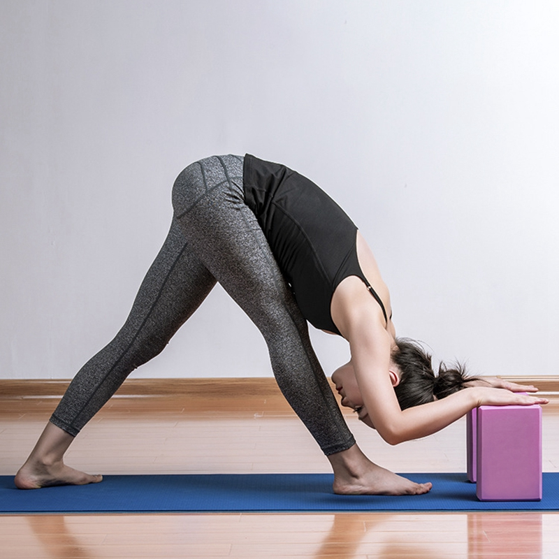Treinamento de Saúde para Mulher Yoga Bloco Tijolo Pilates Esportes Exercício Ginásio Espuma Alongamento Ajuda Corpo Moldar Eva Mod. 344709