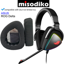 Misodiko Vervanging Oorkussens Kussen Kit Voor Asus Rog Delta Gaming Headset, Hoofdtelefoon Reparatie Onderdelen Oordopjes (Zwart)