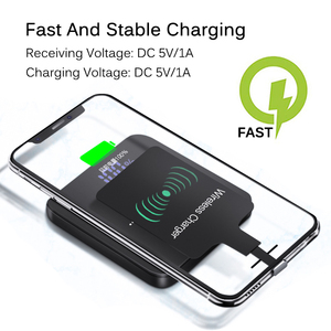 Image 4 - Fast Qi Wireless Charger Receiver For iPhone 6 7 Plus Universal Charging Receiver Adapter Pad Coil For Micro USB Type C Phone