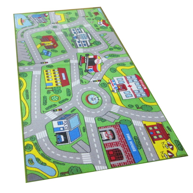 BESTKids Rug Play Mat for Toy Cars Colorful and Fun Play Rugs with Roads for Bedroom and Kid Rooms  Area Rug Mat with Non Slip 7|Carpet| |  -