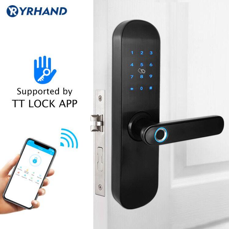 TT Lock App Smart Door Lock Biometric, Security Intelligent Smart Lock With WiFi APP Password RFID Unlock,Door Lock Electronic