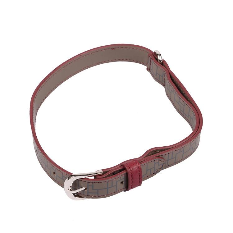 Hide Substance Pet Collar Multi-Size Pu Dog Neck Ring Logo Pattern