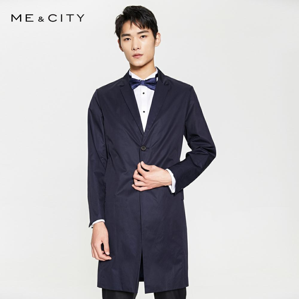 Me&City Mens Fashion Wool Blazer 2019 Brand Business Long Blazer Tide Design Casual Male Slim Smart Suit Jacket Costume Homme