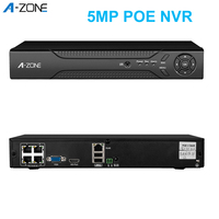 A ZONE 5MP Network Video Recorder NVR POE 8CH 4CH ONVIF H.265 IP Camera Video Recorder For CCTV POE Surveillance System