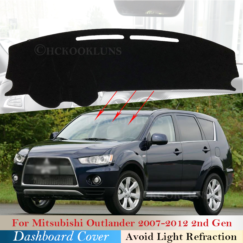 Dashboard Cover Protective Pad for <font><b>Mitsubishi</b></font> <font><b>Outlander</b></font> <font><b>2007</b></font>~2012 Car Accessories Dash Board Sunshade Carpet <font><b>2008</b></font> 2009 2011 2nd image