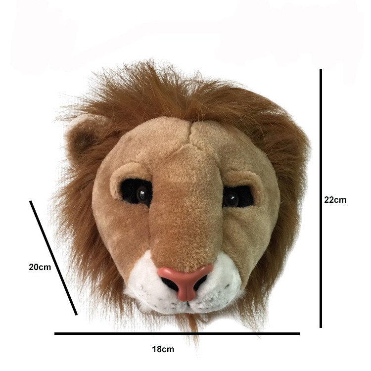 Image 2 - Most popular lifelike wall decoration lion shaped plush animal head toy-in Plush Wall Stuff from Toys & Hobbies