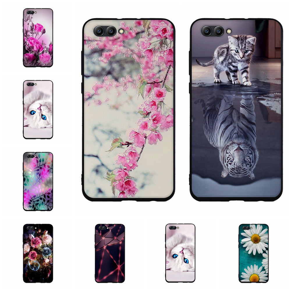 For Huawei Honor View 10 Case Slim Soft Silicone TPU For honor view 10 Cover 3D Lovely Cartoon Patterned For Honor V10 Coque image