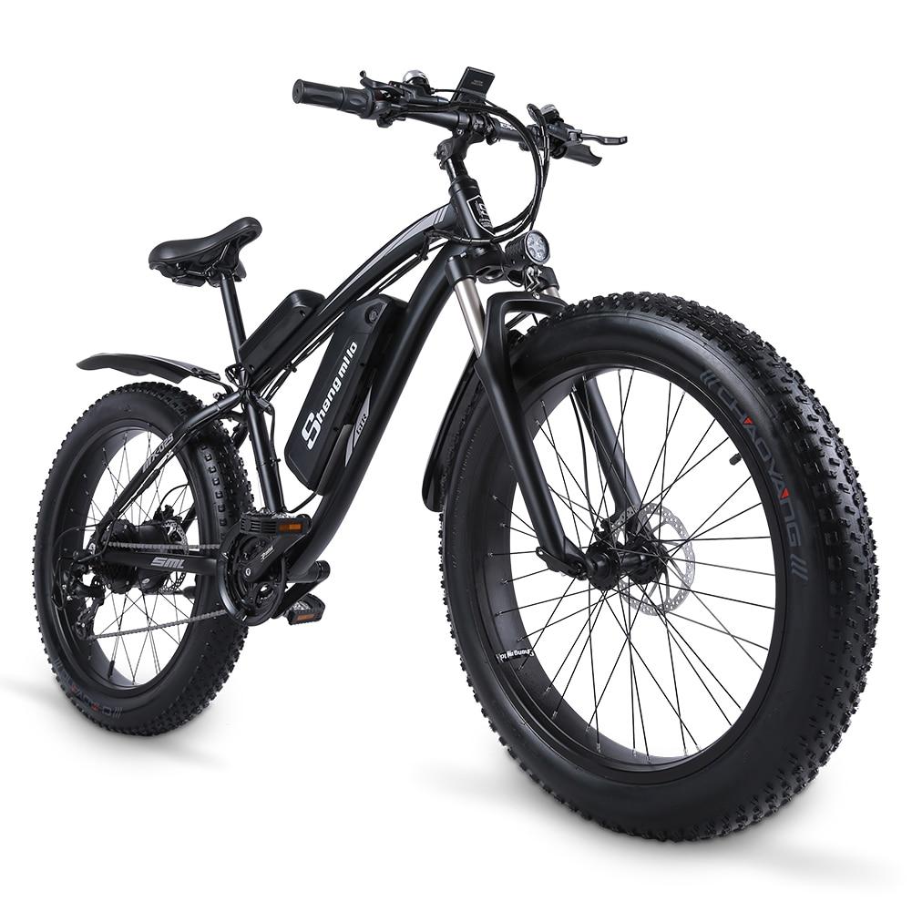 Shengmiluo Electric Bike MX02S Mountain Electric Bike 1000W Bike 26 Inch Men's bicycle Outdoor Beach Mountain Bike 48V17AH 6