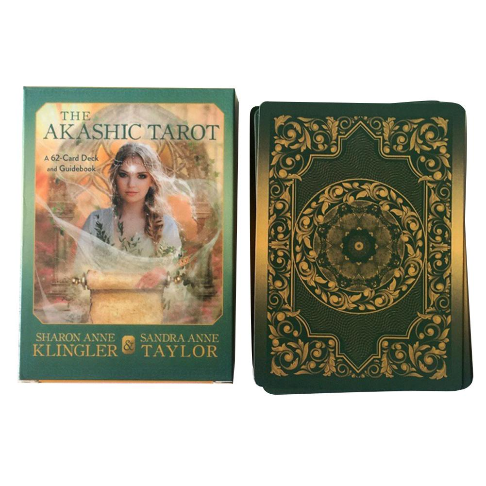 62Pcs The Akashic Tarot Cards Oracle Guidance Divination Fate Tarot Deck Board Games English Party Playing Card Games