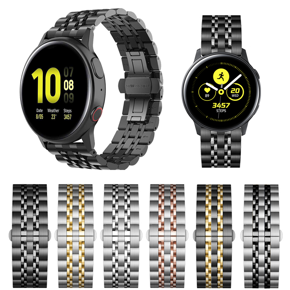 Stainless Steel Strap For Samsung Galaxy Watch Active 2 44mm 40mm/42 46mm Band Bracelet For Gear Sport/S2 S3 WristBand 20mm 22mm
