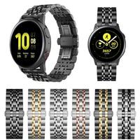 Edelstahl Strap für Samsung Galaxy Uhr Aktive 2 44mm 40mm/42 46mm Band Armband für getriebe Sport/S2 S3 Armband 20mm 22mm