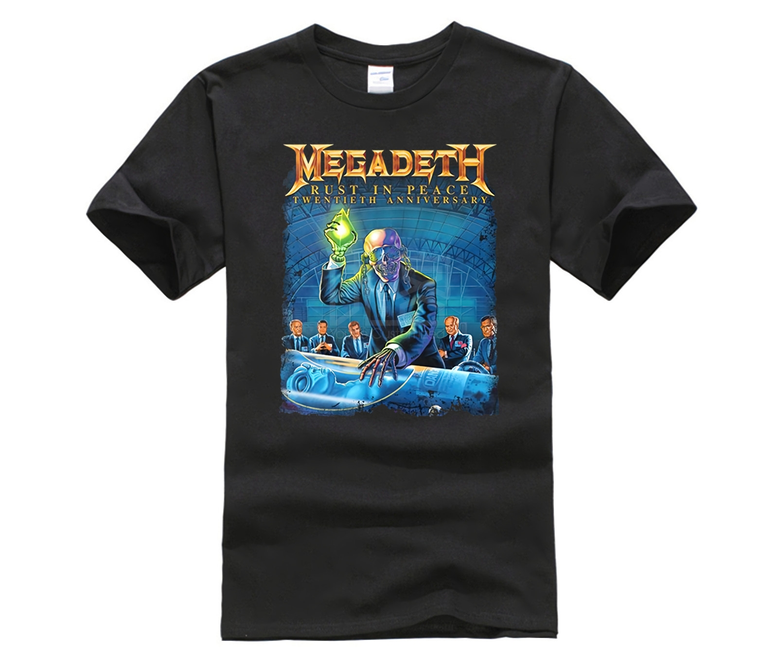 Tshirt Men   Megadeth Rust In Peace 20th Anniv Tour Black SMALL New Official NOS Sleeve Tee Shirt Homme T-shirt Top