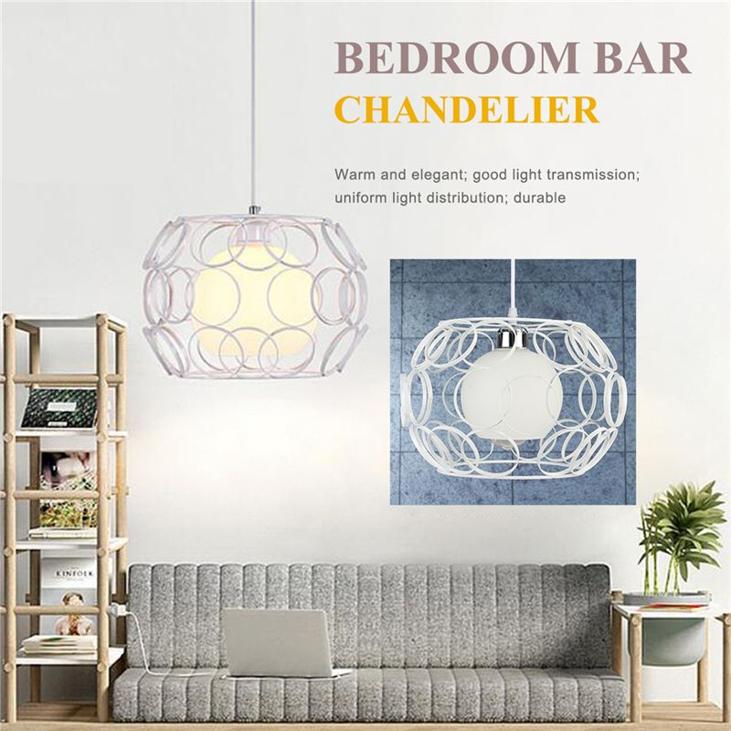 White Vintage Industrial Ceiling Lamp Vintage Chandelier Cafe Bar Restaurant Lights Simple Creative Lamps Nordic Dining Room Lig