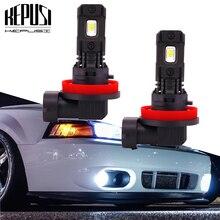 цена на 1 pair 100W H7 led Car lights 3000lm H11 H8 9006 H1 H3 LED Bulb White 6000k led Car fog light car lamp 12V 24V H7 driving light