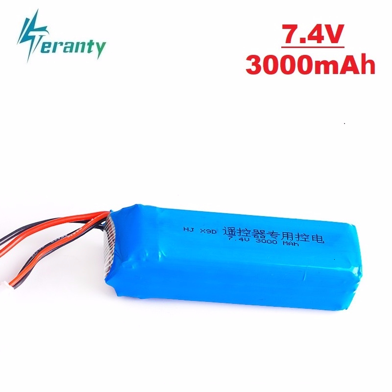 Teranty Power <font><b>7.4V</b></font> <font><b>3000mah</b></font> <font><b>Lipo</b></font> <font><b>Battery</b></font> Rechargeable For Frsky Taranis X9D Plus Transmitter Remote Controller Spare Parts 1pcs image
