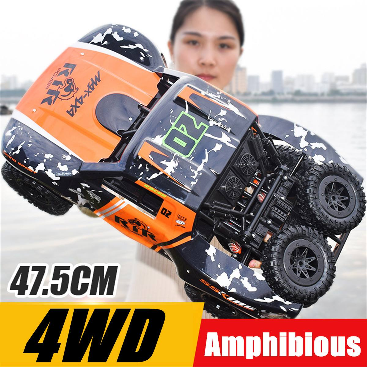 RGT RC Crawler 1:10 4wd RC Car Metal Gear Off Road Truck RC Rock Crawler Cruiser Hobby Crawler RTR 4x4 Waterproof 48cm RC Toy