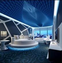 купить Custom ceilings 3D stereo rotating ball fashion ceiling mural 3d ceiling murals wallpaper по цене 1367.76 рублей