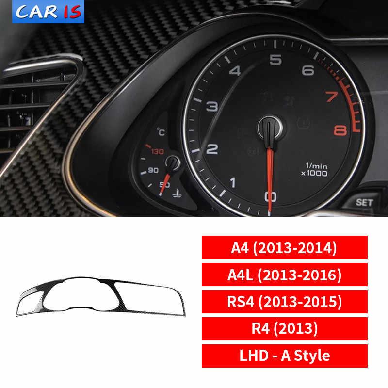 Carbon Fiber Interior Dashboard Instrument Panel Trim Cover For Audi A4 2009-10