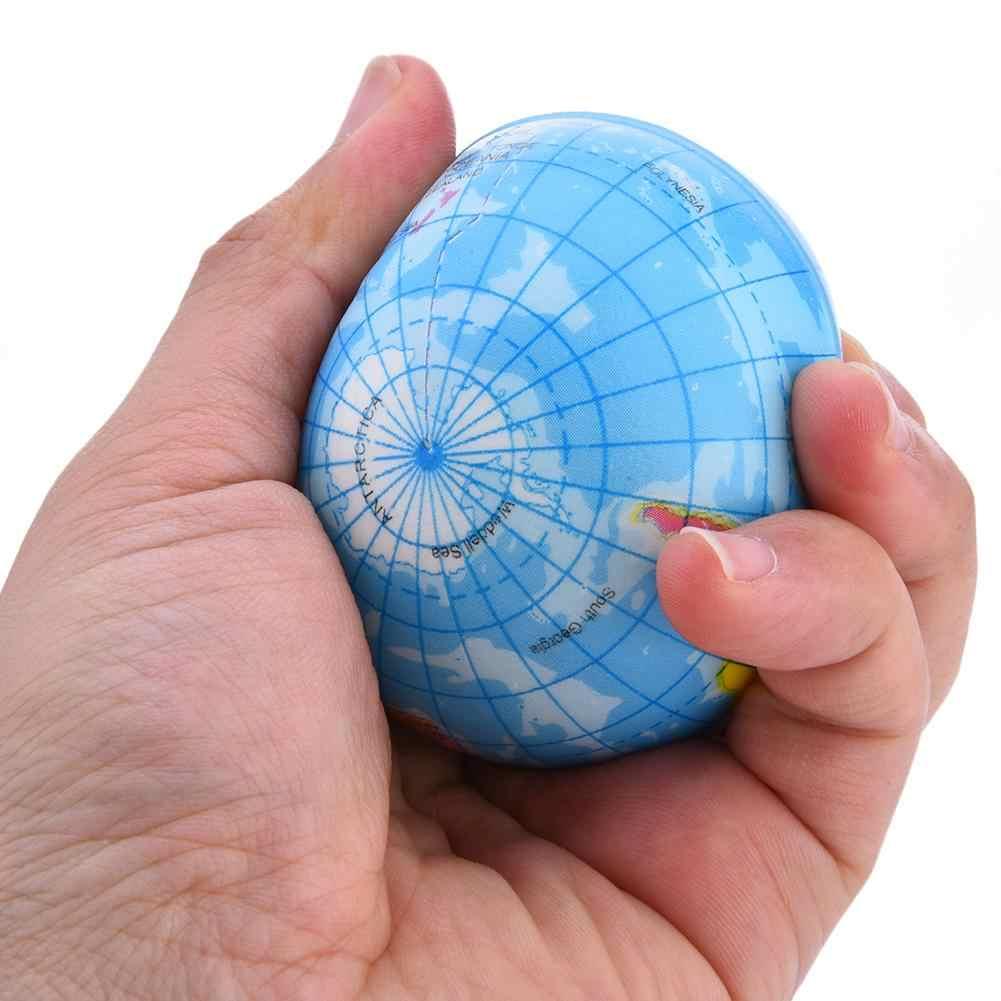 6-10CM PU Slime Squish éponge balle drôle mousse gonflable balle Tellurion pour adulte décompression Worldmap rebond jouets
