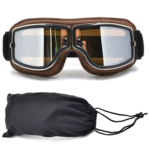 Image 5 - מוטוקרוס משקפי Moto אופני משקפיים טרקטורונים Lunette אופנוע קסדת משקפיים gafas משקפי וינטג Steampunk משקפי w/תיק