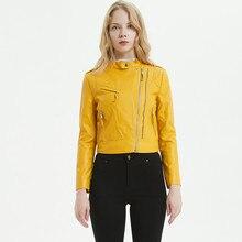 Multy Zipper Motorcycle Coat Womens 2019 Autumn Modis Biker Faux Jackets Plus Size Black PU Leather Short Washed Jacket