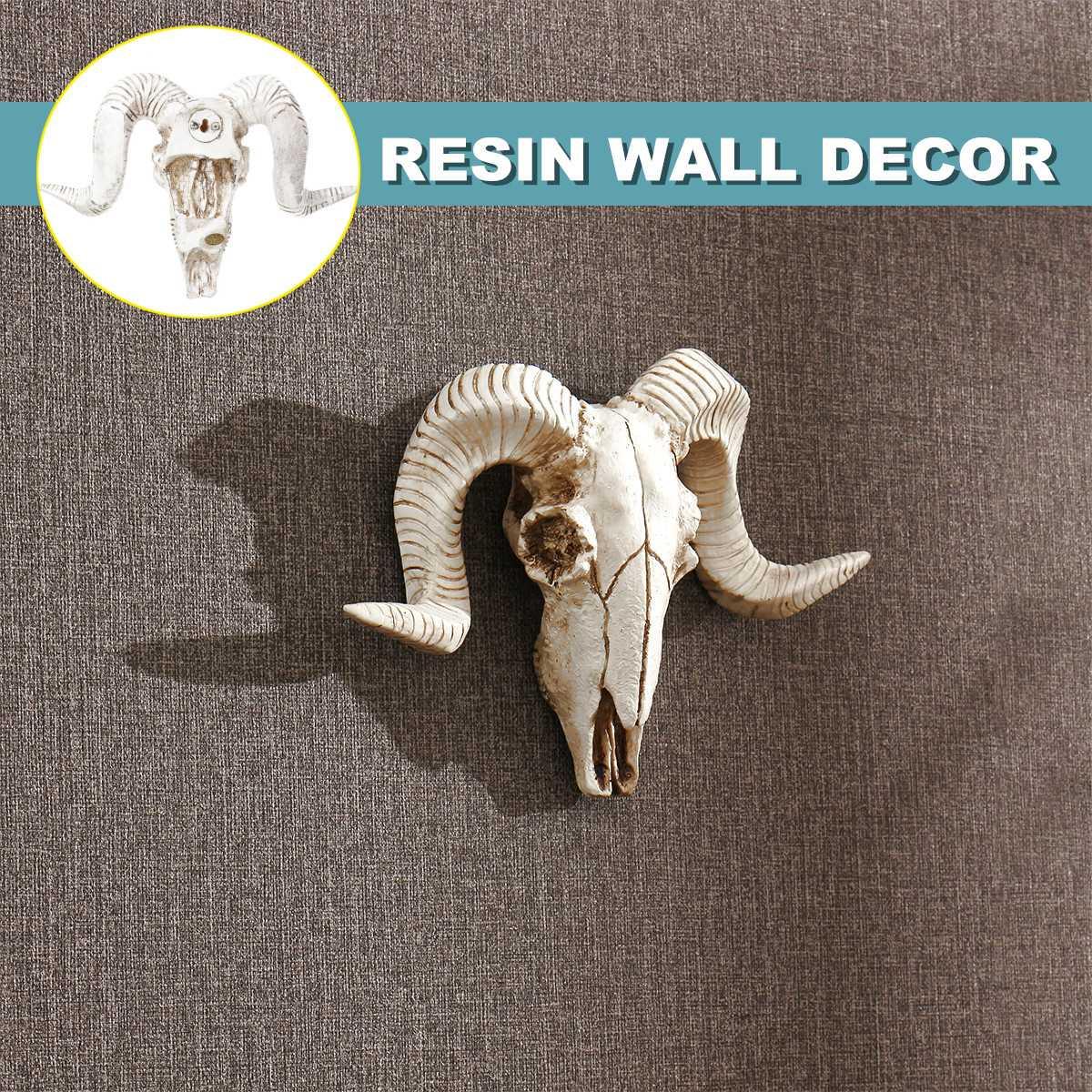RechicGu Western Big Horn Sheep RAM Goat Skull Leather Rodeo Bolo Bola Tie Necktie