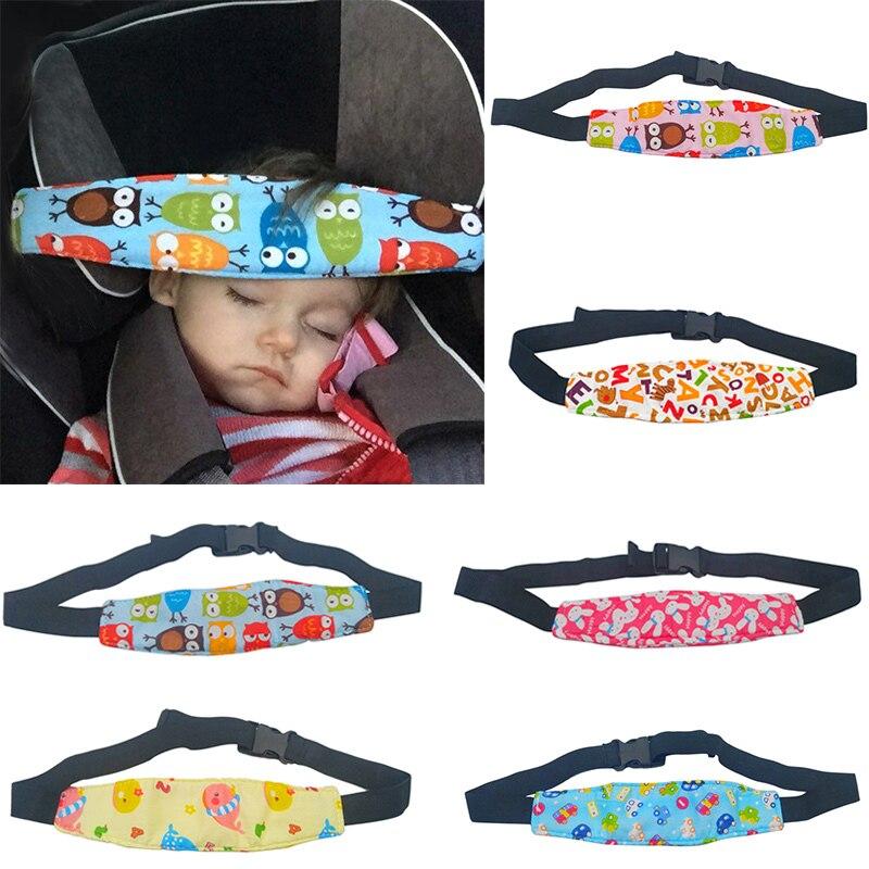 Adjustable Baby Stroller Head Support Pad Pillow Fastening Pram Belt Children Kids Car Seat Safety Sleep Positioner 100% Cotton