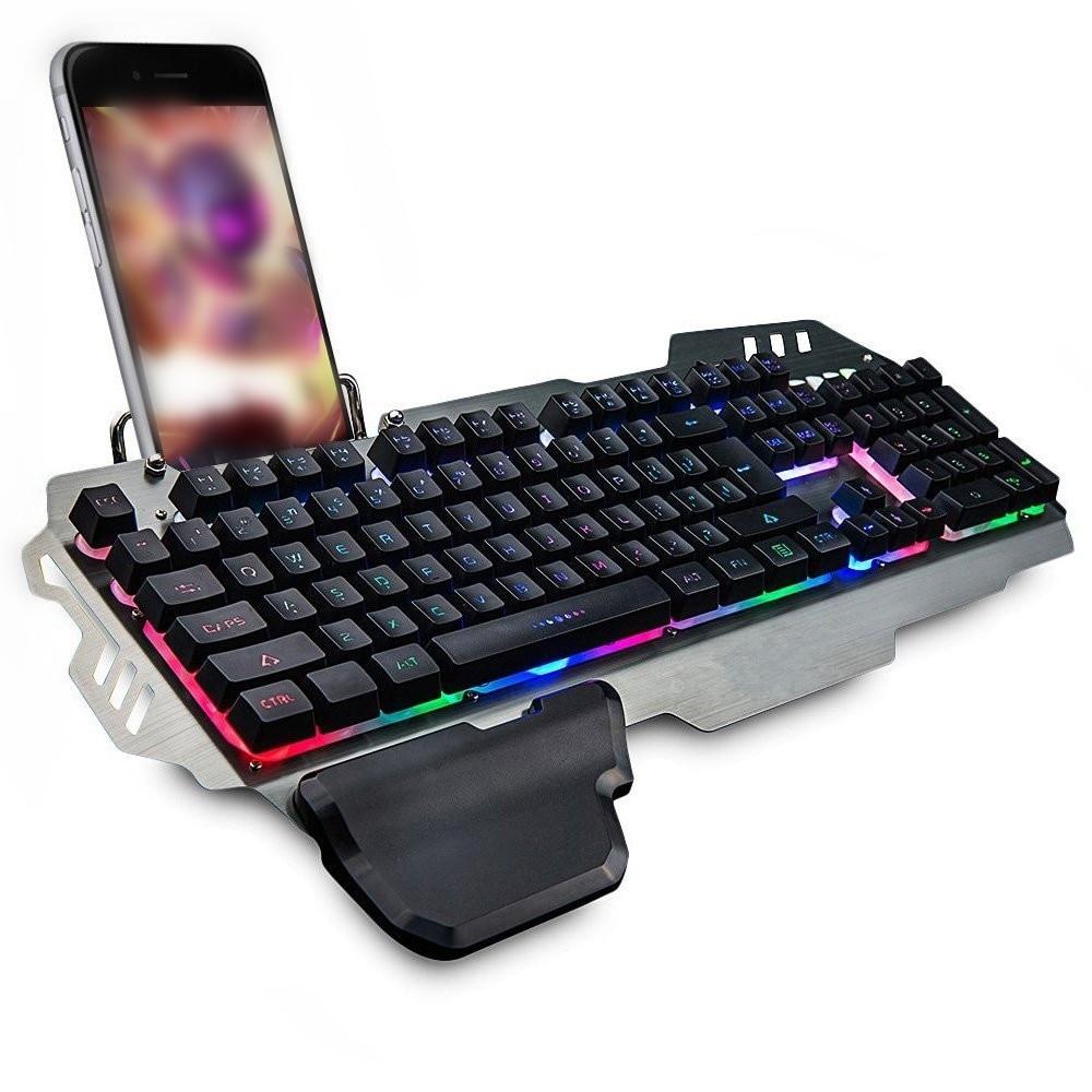 PK-900 104 Keys USB Wired Backlit Mechanical-Handfeel Backlight Gaming Keyboard for Gamer Computer PC Laptop 1
