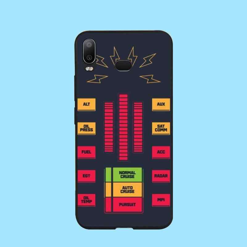 Cubierta de teléfono de goma suave de TPU negro de penthuwan Knight Rider Kitt para Samsung A10 A20 A30 A40 A50 A70 A71 A51 A6 A8 2018