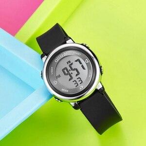 OHSEN цифровые детские часы для мальчиков модные водонепроницаемые черные силиконовые детские наручные часы 7 цветов светодиодный спортивны...